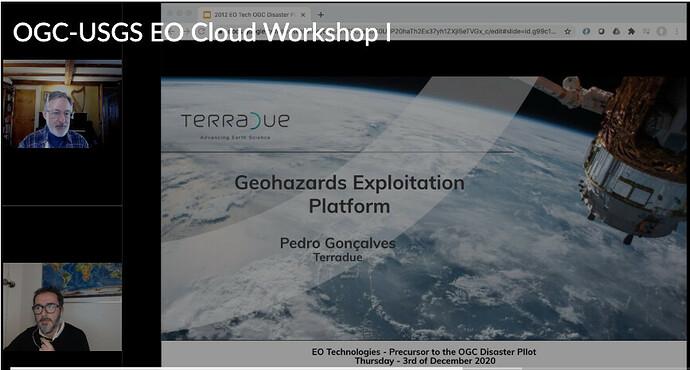 OGC-USGS EO Cloud Platforms for Disaster Response Pre-pilot Workshop